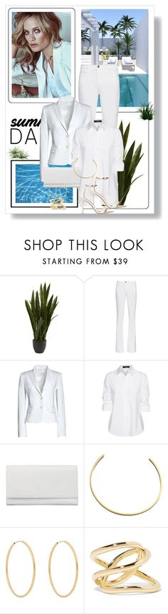 """""""At the Rooftop Bar"""" by dezaval ❤ liked on Polyvore featuring Murphy, Nearly Natural, Frame, Canvas by Lands' End, Steffen Schraut, Auteurs Du Monde, BAM-B, Loren Stewart, Jennifer Fisher and Billini"""
