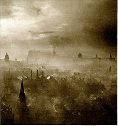 'Auld Reekie' (Edinburgh) - Frontispiece from 'In Search of Scotland', published in London - 1929