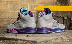 Air Jordan 5 'BEL-AIR' Custom Sneakers                                                                                   Ⓙ_⍣∙₩ѧŁҝ!₦ǥ∙⍣