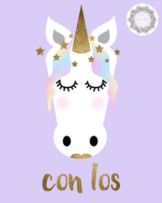 NURSERY PRINT SET OF 3 // NURSERY DECOR // UNICORNS // UNICORNIOS // SUEÑA CON LOS ANGELITOS // SPANISH // ESPAÑOL  This is a super cute set of three pastel unicorn nursery illustrations. They would make a lovely addition to any nursery room or kids bedroom.  The text reads:  ♥︎ Page One  Sueña  ♥︎ Page Two  con los  ♥︎ Page Three  angelitos