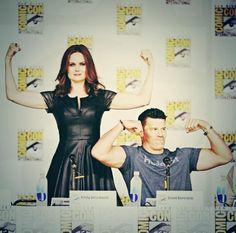 Emily Deschanel and David Boreanaz. #Bones #ComicCon