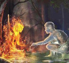 Art Amour, Flame Art, Fantasy Artwork, Fantasy World, Concept Art, Cool Art, Art Drawings, Digital Art, Creatures