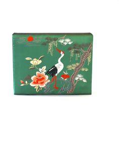 handmade vintage silk embroidered jewelry box by athenastudio Etsy