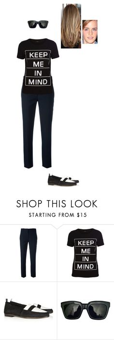 """Sem título #7493"" by gracebeckett ❤ liked on Polyvore featuring Victoria Beckham, VILA and NewbarK"