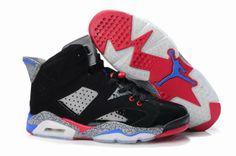 Nike Air Jordan Retro 6 Mens Shoes White Black Blue Red Grey