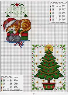 Christmas Charts, Cross Stitch Christmas Ornaments, Xmas Cross Stitch, Cross Stitch Books, Cross Stitch Animals, Christmas Embroidery, Christmas Cross, Counted Cross Stitch Patterns, Cross Stitch Charts