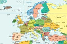 European Countries and Capital Cities - interactive map