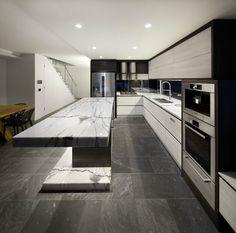 Ultra Modern Aesthetic – Best Ideas of Home Design and Decor Luxury Kitchen Design, Kitchen Room Design, Contemporary Kitchen Design, Best Kitchen Designs, Luxury Kitchens, Home Decor Kitchen, Modern House Design, Interior Design Kitchen, Home Kitchens