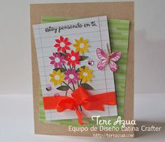 I am thinking of you! Card designed for #latinacrafter