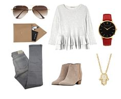 """""""Chill out Sunday"""" by jennathompson504 on Polyvore featuring Rebecca Taylor, Golden Goose, Comptoir Des Cotonniers, Larsson & Jennings, Ray-Ban, STOW, women's clothing, women, female and woman"""