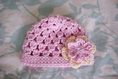 Newborn girl hat - already made one for a friend (super fast and easy) and plan to make a second for my baby