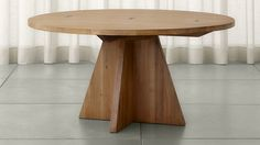 "Monarch 60"" Solid Walnut Round Dining Table 