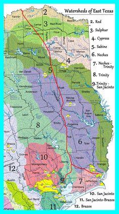 Watersheds Of East Texas Kxl Pipeline Maps Tar Sands Blockade