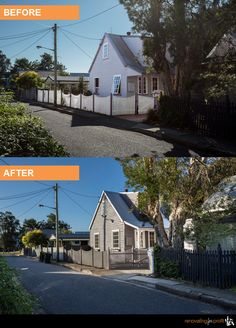 #facade #renovation See more exciting projects at: www.renovatingforprofit.com.au Diy Projects Cans, House Improvements, Before After Photo, Diy Home Improvement, Home Remodeling, Facade, Exterior, Mansions, House Styles