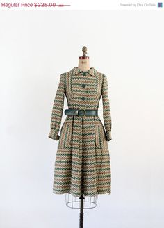 ON SALE 1960s Coat Dress / Vintage Neiman Marcus Dress