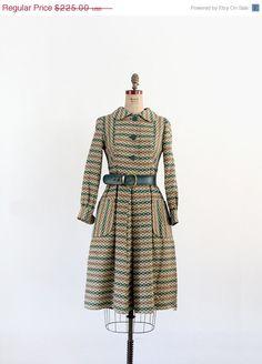 ON SALE 1960s Coat Dress / Vintage Neiman Marcus Dress