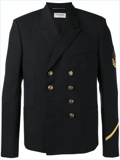 Saint Laurent Double-Breasted Military Jacket