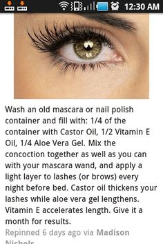 Get those long eyelashes