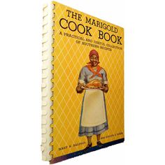 Black Americana Cookbook 1938 Marigold Cook Book A Practical and... ($98) ❤ liked on Polyvore featuring home, kitchen & dining and cookbooks