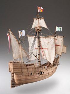 Santa Maria ship model kit of Christopher Columbus - Wooden Gifts SOLY Model Sailing Ships, Model Ships, Santa Maria Ship, Christopher Columbus Ships, Wooden Model Boats, Model Ship Building, Ship Craft, Ship Drawing, Boat Projects