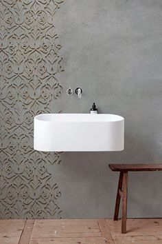 As Tadelakt is water repellent there's absolutely no demand for tiling etc. Tadelakt is incredibly versatile and may be used in a lot of means. Tadelakt not on. Design Wc, Wall Design, House Design, Interior Design, Design Ideas, Bathroom Inspiration, Interior Inspiration, Bad Wand, Ideas Baños