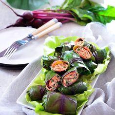 Gołąbki bez gotowania! HIT z tuńczykiem w liściach botwiny.