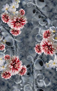 Elephant Wallpaper, Iphone Wallpaper, Pattern Art, Abstract Pattern, Flower Patterns, Flower Designs, Pastel Background Wallpapers, Fabric Print Design, Floral Texture
