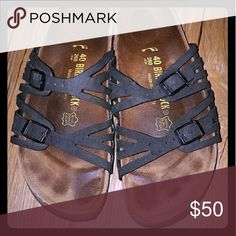 Birkenstock Granada Gently Used Once you get a pair of Birks I promise you'll never go back! These are the super comfy Granada Sandal with the Birkibuc floor. They are gently used, but have been well taken care of and they are super sturdy. Great adventure shoes! Birkenstock Shoes Sandals
