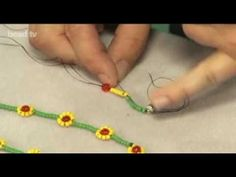 www.beadsunlimite… make a simple daisy necklace. Jane uses our sunny seed bead… www.beadsunlimite… make a simple daisy necklace. Jane uses our sunny seed beads to create this cute necklace. To find all the items shown: www. Seed Bead Bracelets, Seed Bead Jewelry, Seed Beads, Beaded Jewelry, Beaded Necklace, Rope Necklace, Ankle Bracelets, Daisy Necklace, Flower Bracelet