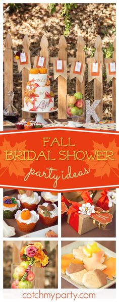 dont miss this wonderful fall wedding bridal shower love the cupcakes see more party ideas and share yours at catchmypartycom rustic bridalshower