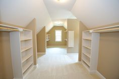 """attic walk in closet. home decor and interior decorating ideas.                                                                                                                    <button class=""""Button Module borderless hasText vaseButton"""" type=""""button"""">       <span class=""""buttonText"""">                          More         </span>          </button>"""