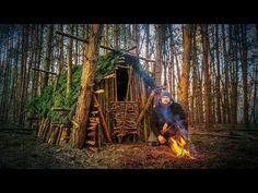 Primitive Technology: Wood Roof Hut Fanvideo - YouTube