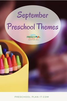 September preschool themes ideas filled with activities for all your preschool interest learning centers! September Preschool Themes, Preschool Monthly Themes, Preschool Family Theme, Creative Curriculum Preschool, September Themes, Preschool Decor, Fall Preschool Activities, Kindergarten Themes, Preschool At Home