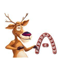Alfabeto animado de Rudolph retro. | Oh my Alfabetos!