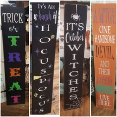 Your place to buy and sell all things handmade Halloween Porch, Halloween Signs, Outdoor Halloween, Diy Halloween Decorations, Halloween Crafts, Halloween Pallet, Halloween Fonts, Outdoor Decorations, Halloween 2020