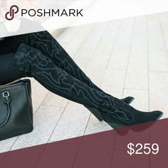 """🆕 {Dolce Vita} • 💫 Connor OTK boots 💫 New with box 📦 , as seen • ❌ no trades ❌ • offers considered • bundles of 2+ receive 30% off 🎉 • Use code NQAXM to get $5 off your purchase • DETAILS: Decorative embroidery makes this boot a head turner. Upper: 60% Suede, 40% Stella Suede Heel Height: 3.75"""" Dolce Vita Shoes Over the Knee Boots"""