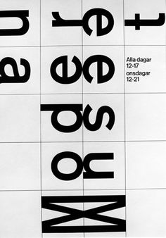 Poster design for the Moderna Museet, Stocholm, 1963 by Anders Österlin