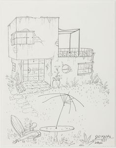 """Original drawing for the portfolio """"The Coast,"""" The New Yorker, January Untitled, ink on paper, 14 ¾ x 11 ¾ in. Saul Steinberg, Adult Coloring, Coloring Books, New York Post, Line Drawing, Screen Shot, Line Art, How To Draw Hands, Foundation"""