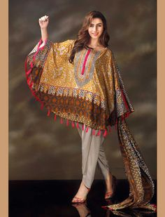 Warda winter dresses has awesome prints. It was established in The brand is not only deals with clothes. Pakistani Formal Dresses, Pakistani Party Wear, Pakistani Dress Design, Pakistani Outfits, Pakistani Kurta, Indian Dresses, Stylish Dresses, Casual Dresses, Fashion Dresses