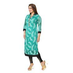 Buy Kaira Womens Indo Western Kurti cyan green  Brand: Kaira Price : Rs. 1,260.00