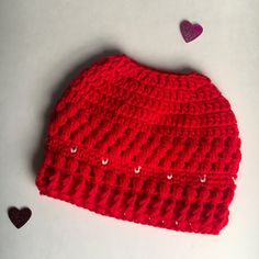 7c0e2a57a 17 Best Bun Hats! images in 2018   Ponytail beanie, Crocheted hats ...