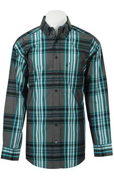 Panhandle Tuf Cooper Men's L/S Western Shirt TCD4568 | Cavender's