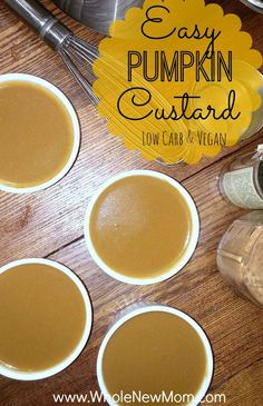 Love Pumpkin Everything? This Easy Pumpkin Custard is Low Carb, Paleo, Vegan, and AIP Friendly. Loaded with great nutrition, it's the perfect Pumpkin Pie flavor for all kinds of special diets. I have to make multiple batches because my kids devour this in no time! (well, I help a little :).)