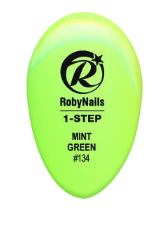 RobyNails 1-Step Gel Polish Mint Green: sizzling and irresistible light green