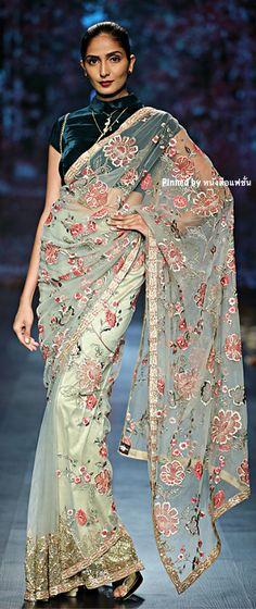 Shyamal And Bhumika, India Fashion Week, Fall Winter, Autumn, Velvet Tops, Runway, Sari, Indian, Amazon