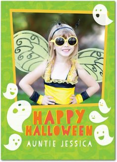 Ghostly Cheer - Halloween Cards from Treat.com #trickorTREAT