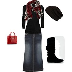 Pretty. I love putting a solid T with a cute scarf :))