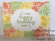 Inspired Stamping by Janey Backer: Birthday Card Bash, Confetti, Stampin' Up!