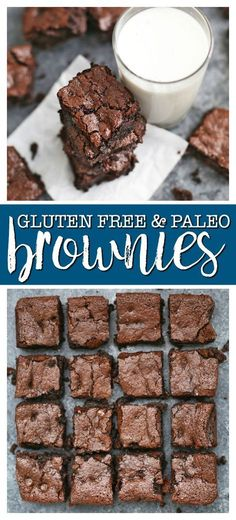 The BEST gluten free & paleo brownies! - The Perfect Gluten Free & Paleo Brownies — Fudgy, rich and delicious all without gluten, grains, or dairy! The BEST gluten free & paleo brownies! Patisserie Sans Gluten, Dessert Sans Gluten, Gluten Free Sweets, Paleo Dessert, Dairy Free Recipes, Healthy Desserts, Low Carb Recipes, Dessert Recipes, Paleo Recipes