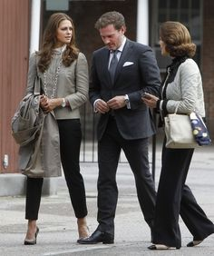 Princess Madeleine fiance Chris O'Neill and Queen Silvia in NYC 5/8/2013